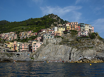 Cinque Terre from the sea boat tour
