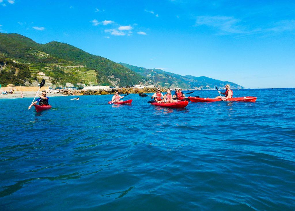 sunset wine kayak tour cinque terre