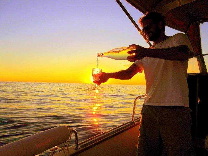 sunset boat tour cinque terre