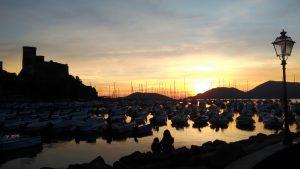 tramonto lerici liguria