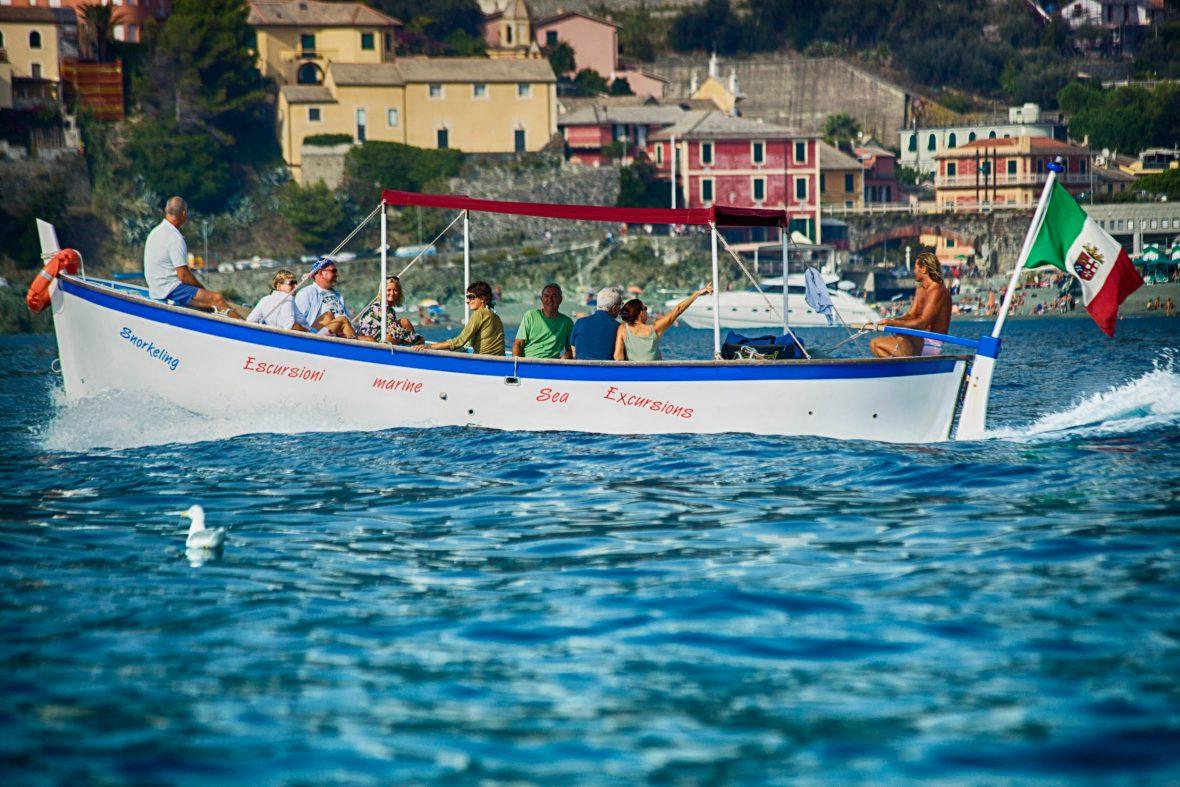 Typical motorboat- gozzo-Levanto